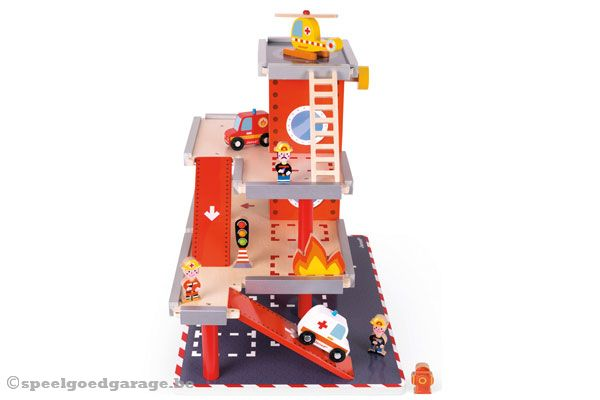 Houten Garage Janod : Janod brandweerkazerne speelgoedgarage.be