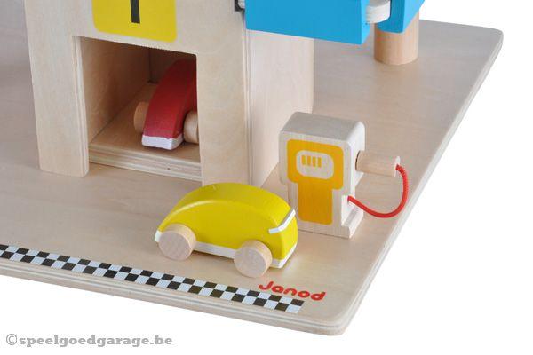 Houten Garage Janod : Janod garage met 4 wagens speelgoedgarage.be
