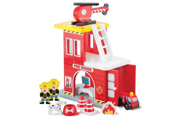 Speelgoed Garage Hout : New classic toys brandweerkazerne mini hout speelgoedgarage be