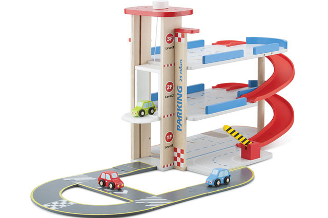 Speelgoed Garage Hout : New classic toys park and drive speelgoedgarage.be