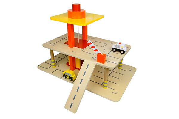 Speelgoed Garage Hout : Woodtoys speelgarage met auto s speelgoedgarage be